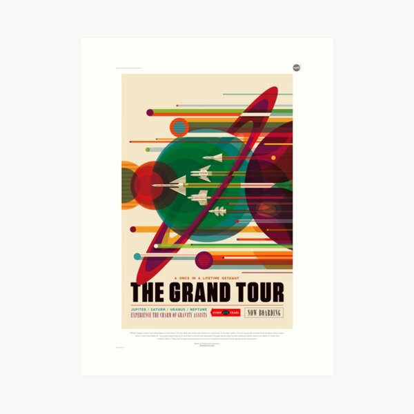 NASA Poster - The Grand Tour Art Print