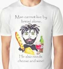 Bread and wine, mens humour Graphic T-Shirt