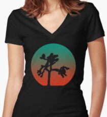 Joshua Tree at Dawn Women's Fitted V-Neck T-Shirt