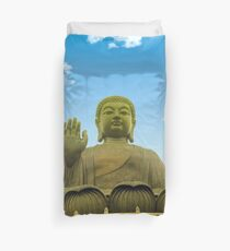 Hong Kong golden grand buddha  Duvet Cover