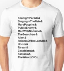 Movie Ride & Movie Ride Black Text T-Shirt