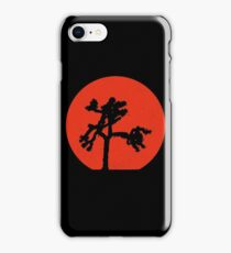 Joshua Tree Red Sky at Night iPhone Case/Skin
