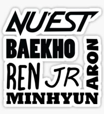 Nu'est member Names Sticker