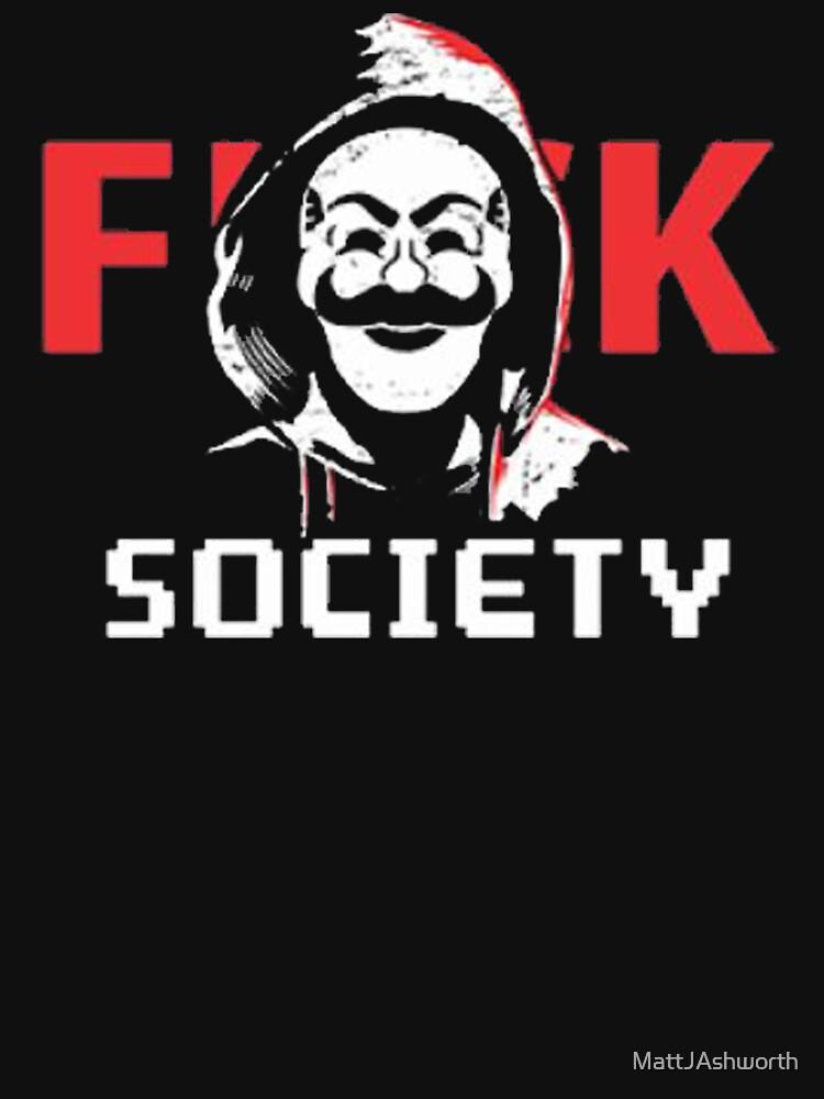 Mr. Robot - F**K Society by MattJAshworth