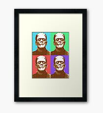 Scrabble Frankenstein's Monster x 4 Framed Print