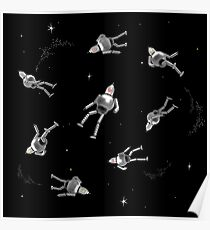 Lost in space _ silver Poster