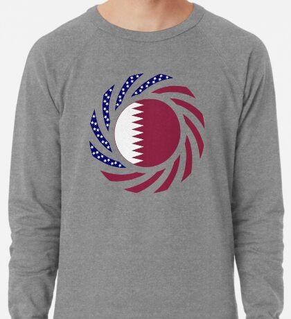 Qatari American Multinational Patriot Flag Series Lightweight Sweatshirt