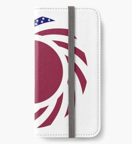 Qatari American Multinational Patriot Flag Series iPhone Wallet