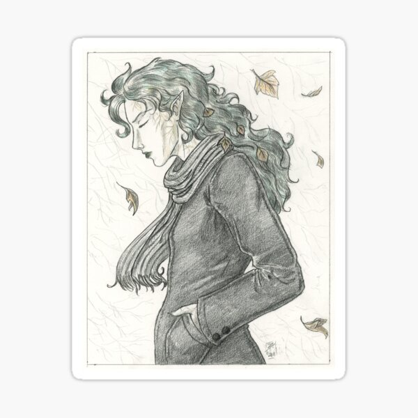 Autumn Dryad Sticker