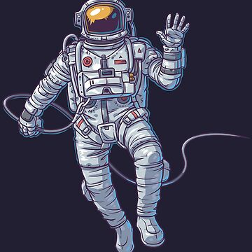 Astronaut in Space by digsterdesigns