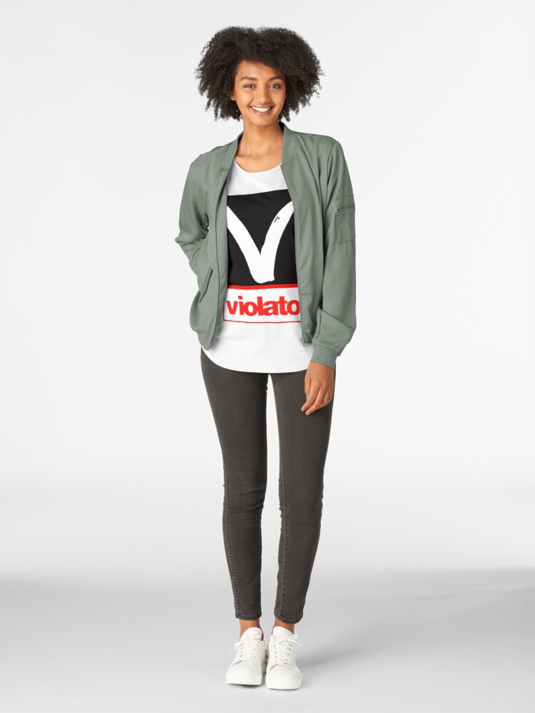 Alternate view of Violator replica logo  Premium Scoop T-Shirt