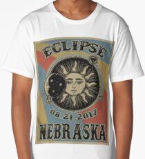 VINTAGE NEBRASKA SOLAR ECLIPSE 2017 SHIRT Long T-Shirt