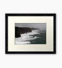 Stormy day at the Cliffs of Moher Framed Print
