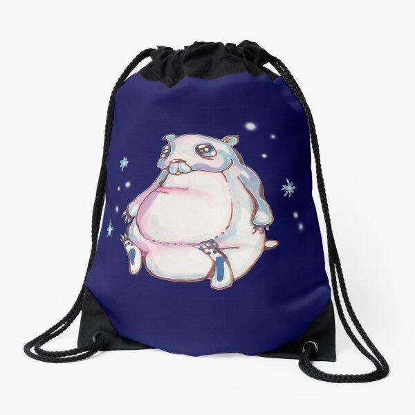 Snowflakes Drawstring Bag