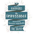 Die Wahrheit - Sherlock Holmes (blau) von BekkaCampbell