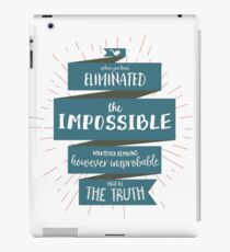The Truth - Sherlock Holmes (blue) iPad Case/Skin