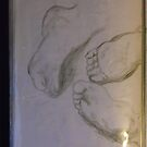 Copy: 3 x Feet/Old Master -(160717)- Pencil: Graphite stick by paulramnora