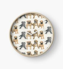 Mastiff Puppies Clock