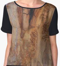 The Tree Bark Collection # 24 - The Magic Tree Women's Chiffon Top