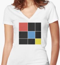 Trinomial Cube Women's Fitted V-Neck T-Shirt