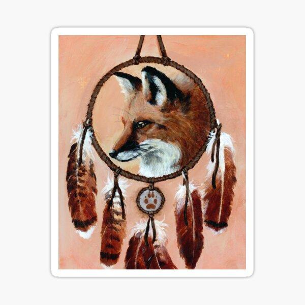 Fox Medicine Wheel Sticker