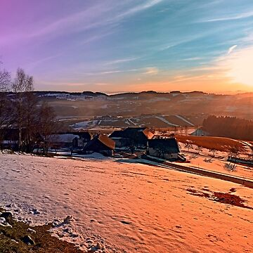 Colorful winter wonderland sundown | landscape photography by patrickjobst