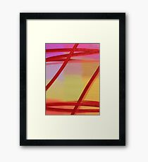 Pastel Red Transparent Abstract Framed Print