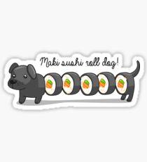 Maki sushi roll dog! Sticker