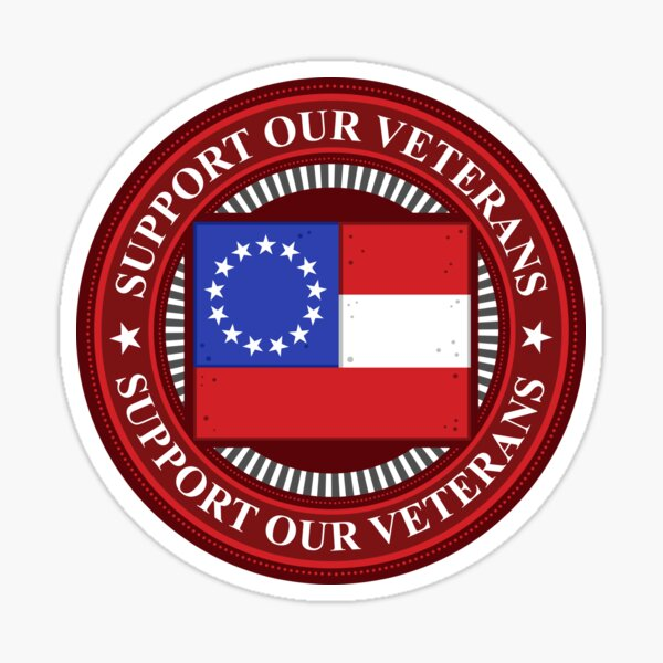 Support Our Veterans First National Flag Sticker