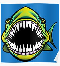 Angry Fish Design  Poster