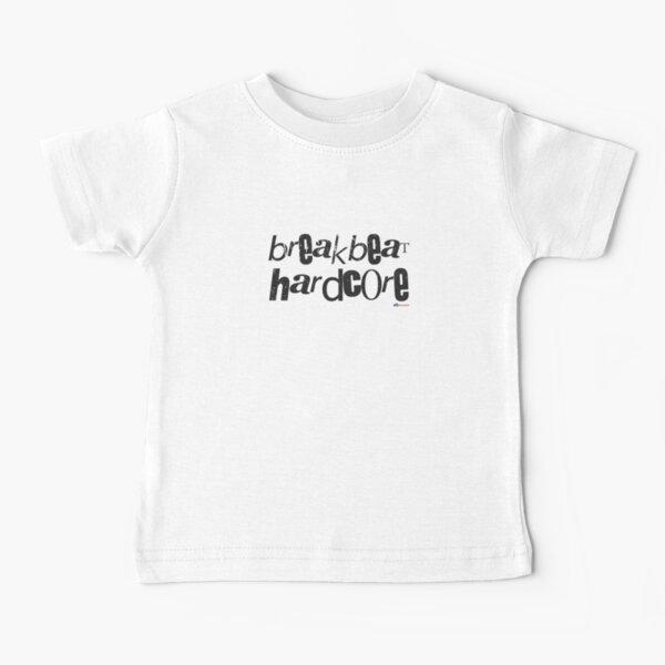 OLDSKOOL BREAKBEAT HARDCORE RAVE T-Shirt ELECTRONIC Music DESIGN White GREY