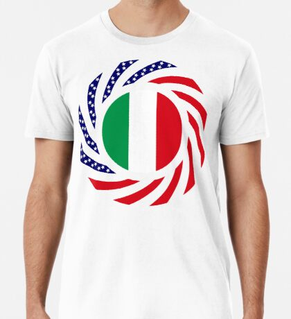 Italian American Multinational Patriot Flag Series Premium T-Shirt