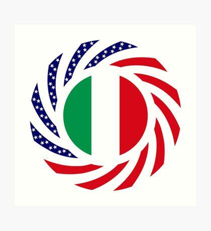 Italian American Multinational Patriot Flag Series Art Print