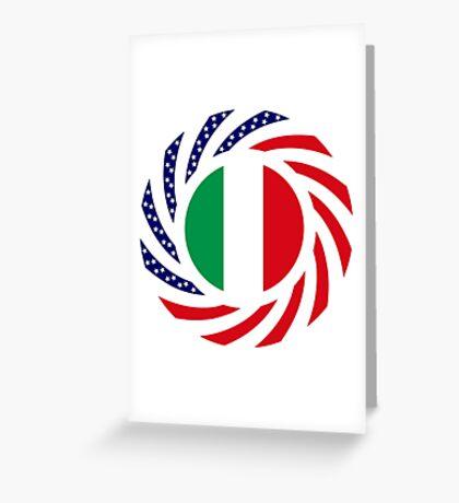 Italian American Multinational Patriot Flag Series Greeting Card