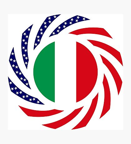 Italian American Multinational Patriot Flag Series Photographic Print