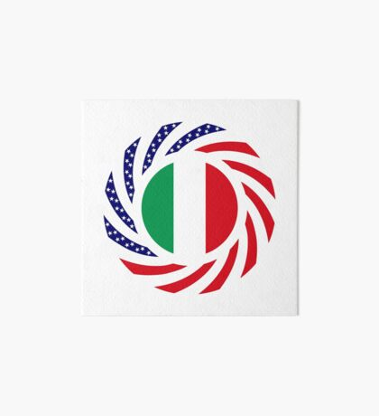 Italian American Multinational Patriot Flag Series Art Board Print