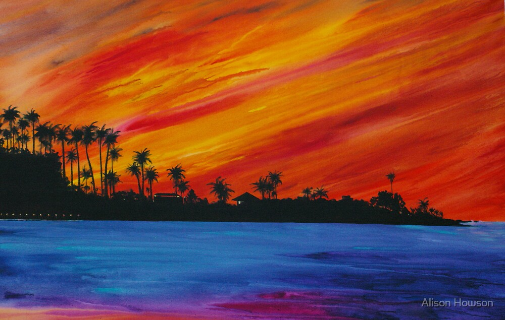 Evening Skies - La Jolla by Alison Howson