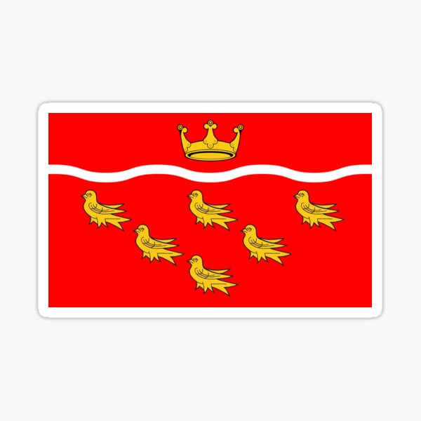 Flag of East Sussex, England Sticker
