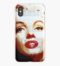 Marilyn - Blue Print iPhone Case