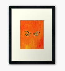 the walls have eyes.  Framed Print