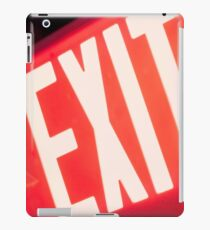 Exit Sign iPad Case/Skin