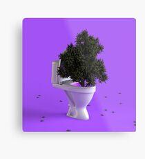 Toilet Tree Metal Print