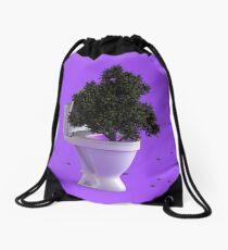 Toilet Tree Drawstring Bag