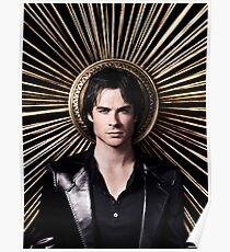 Póster Damon Salvatore - The Vampire Diaries - Season 4 - Cartel promocional