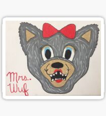 Mrs. Wuf  Sticker