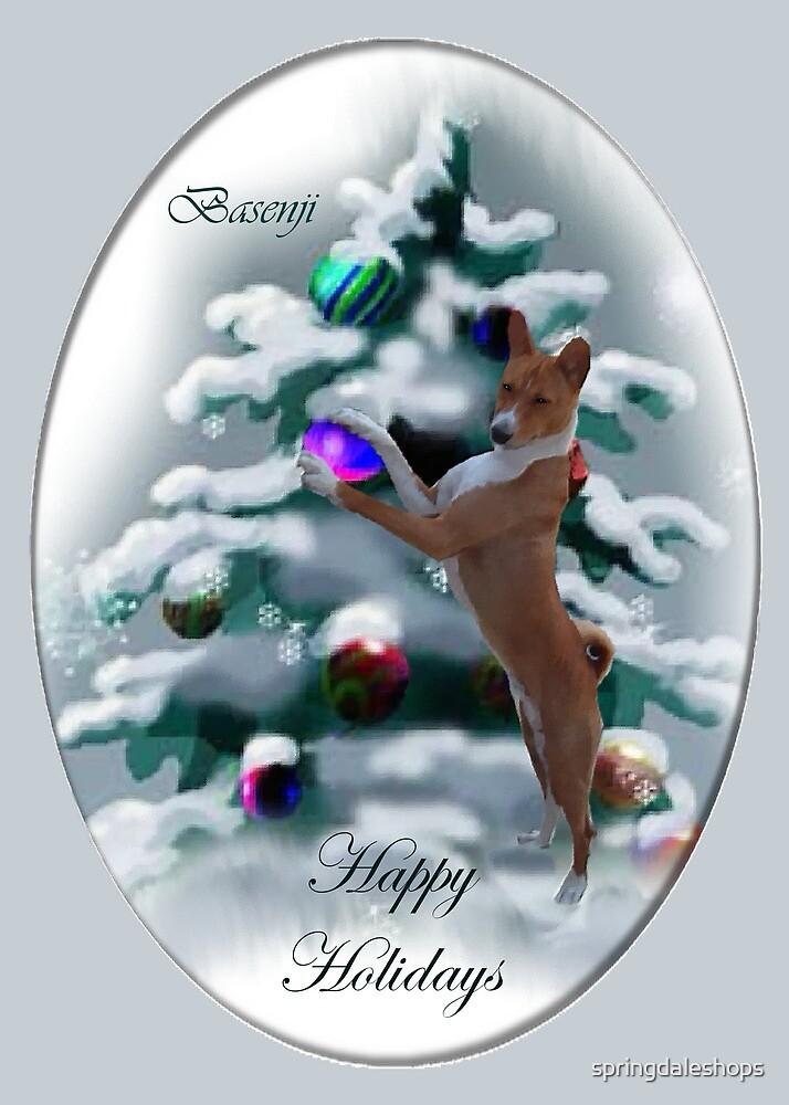 Basenji Christmas Art Gifts by springdaleshops