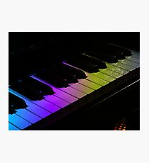 Tone Colours - Rainbow Keyboard Photographic Print