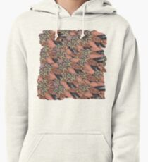 red and brown abstract pattern Pullover Hoodie