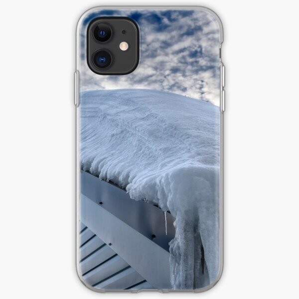 Snow covered roof at Mt Hotham iPhone Soft Case