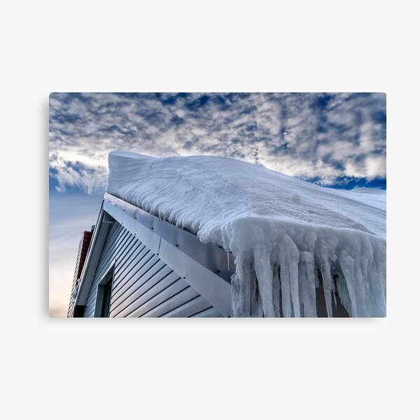 Snow covered roof at Mt Hotham Canvas Print